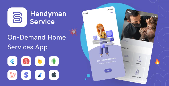 Handyman Service Flutter On Demand Home Services App with Complete Solution