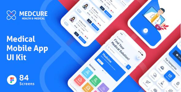 MEDCURE Medical App UI Kit for Figma