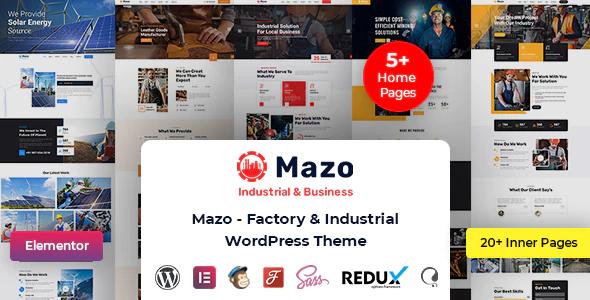 Mazo Multipurpose Industry Factory WordPress Theme