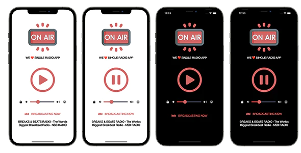 On Air Single Radio App SwiftUI Full iOS Application