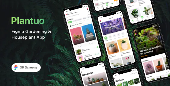 Plantuo Figma Gardening Houseplant App