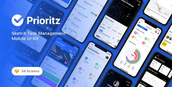 Prioritz Sketch Task Management Mobile UI Kit