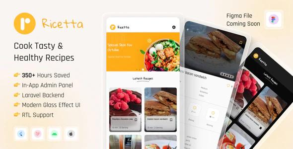 Ricetta Flutter Recipe App with Laravel Backend