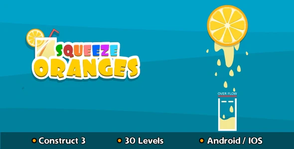 Squeeze Oranges HTML5 Game Construct 3