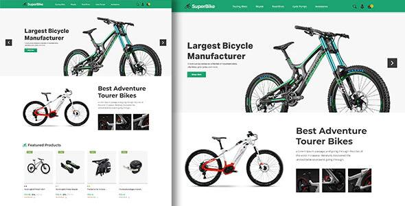 SuperBike Bicycle Magento Theme