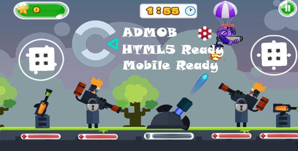Tank Stars Survival HTML5 game Construct 3