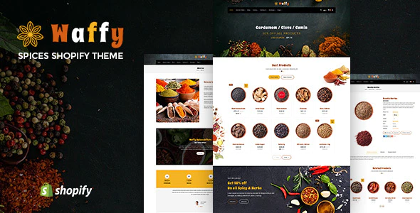 Waffy Spices Dry Fruits and Nuts Organic shop Shopify Theme
