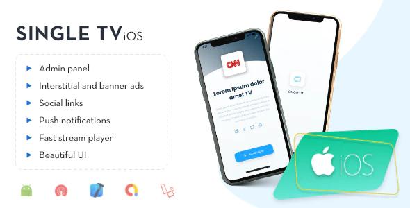 iOS Single TV with Admin Panel