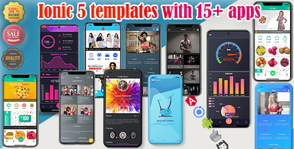 ionic 56 themes bundles ionic 5 templates with 15 apps