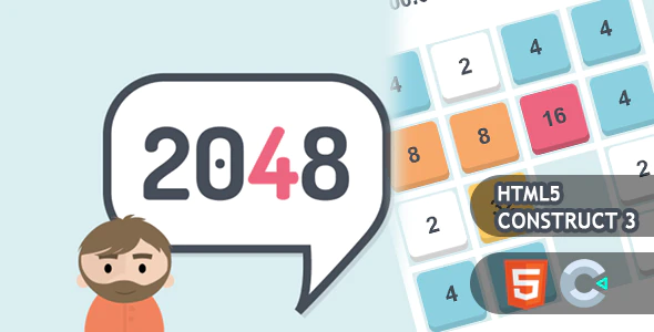2048 HTML5 Construct 3 Game