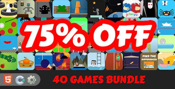 40 HTML5 Games Bundle C2C3 2 FREE GAMES
