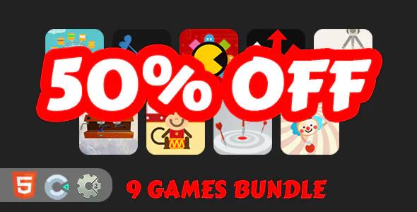 9 Mini HTML5 Games Bundle C2C3