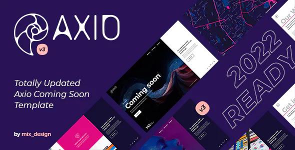 Axio Coming Soon Template