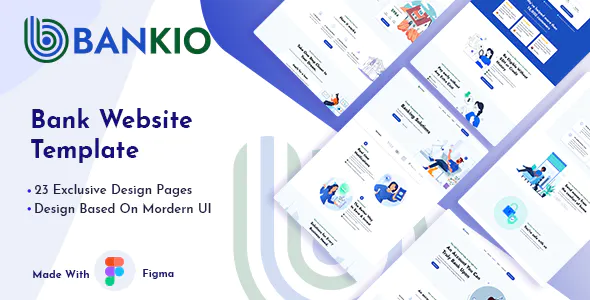Bankio Bank Website Figma Template