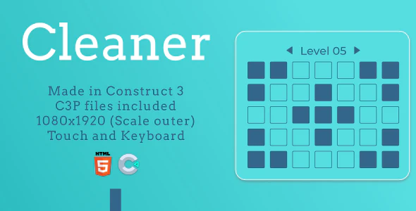Cleaner HTML5 Casual game