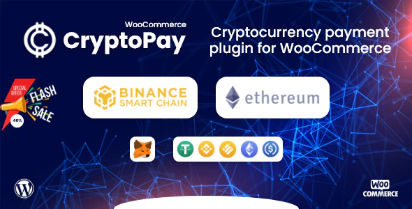 CryptoPay WooCommerce Cryptocurrency payment plugin