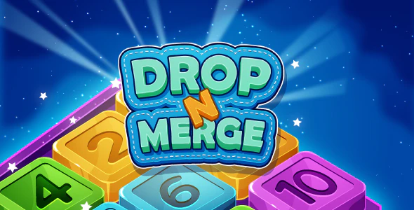 Drop N Merge HTML5 Puzzle Game Phaser 3