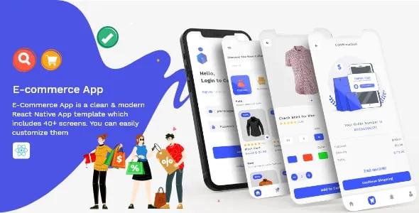 E Commerce App Fully Customisable React Native Template