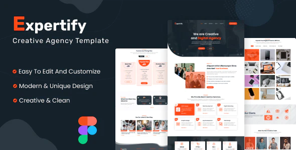 Expertify Creative Agency Figma Template