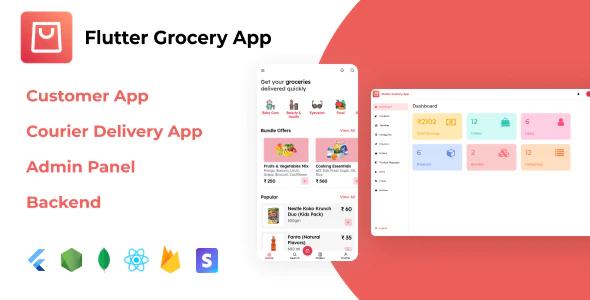 Flutter Grocery App React.js Admin Panel Node.js Backend