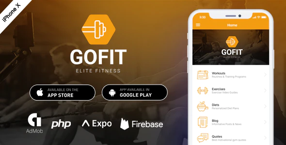 GoFit Complete React Native Fitness App Backend