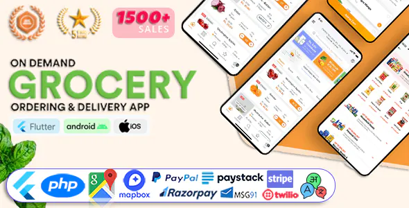 GoGrocer Grocery Vegetable Flutter Delivery App with PHP Backend