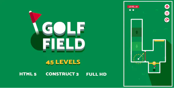 Golf Field HTML5 Game Construct3