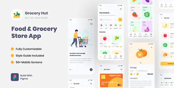 Grocery Hut Food Grocery Store App Figma UI Template