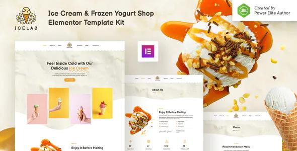 Icelab – Ice Cream Frozen Yogurt Shop Elementor Template Kit