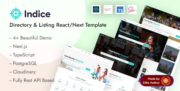 Indice Directory Listing React Next Template