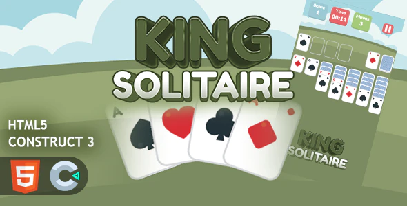 King Solitaire HTML5 Construct 3 Game