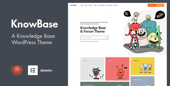KnowBase A Helpdesk bbPress WordPress Theme