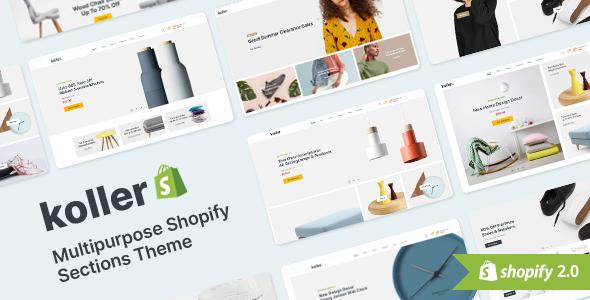 Koller Multipurpose Shopify Sections Shopiy Theme