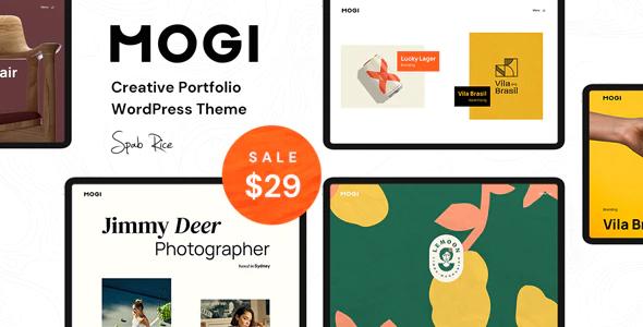 Mogi A Creative Portfolio Agency WordPress Theme