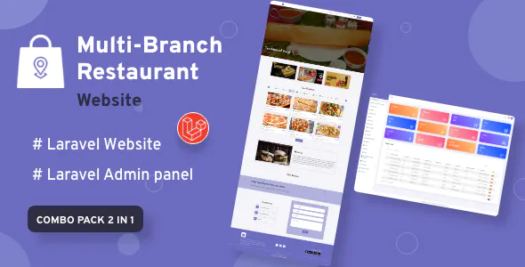 Multi Branch Restaurant Laravel Website with Admin Panel