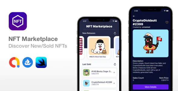 NFT Marketplace SwiftUI Widget Discover New NFTs