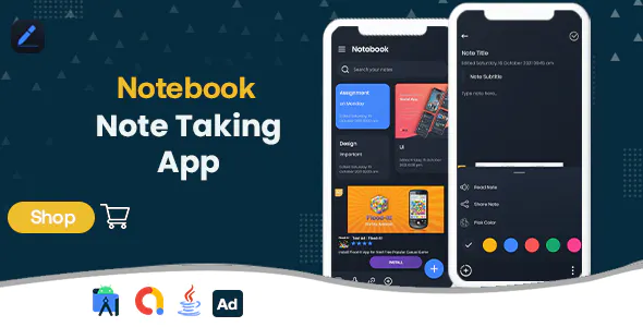 Notebook Note Taking Android App with Admob Ads