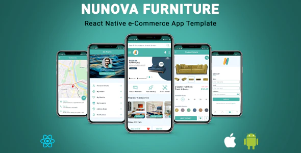NunovaFurniture React Native eCommerce App Template