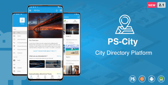 PS City Guide Directory City Tour Guide App For A City 2.1