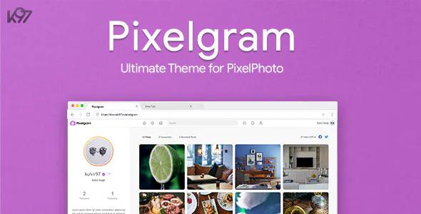 Pixelgram The Ultimate PixelPhoto Theme