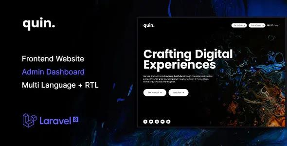 Quin Multipurpose Website CMS Creative Agency Management System