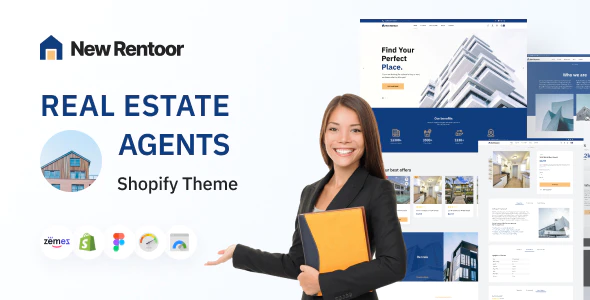 Rentoor Shopify for Real Estate Agents Theme