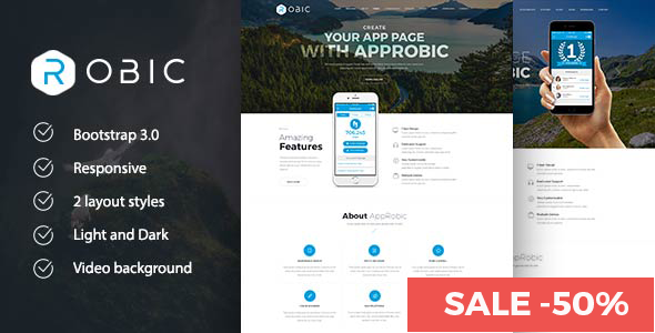 Robic WordPress Landing Page Theme