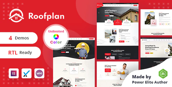 Roofplan Roofing Services WordPress Theme RTL