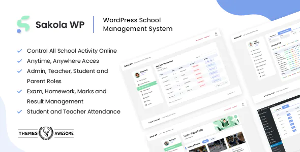 SakolaWP WordPress School Management System
