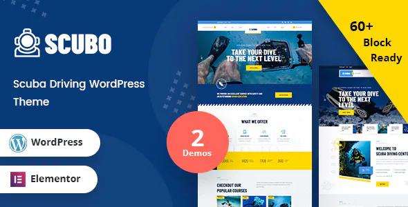 Scubo Scuba Diving Centre WordPress Theme RTL