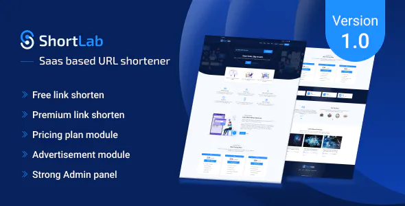 ShortLab SAAS Based URL Shortener