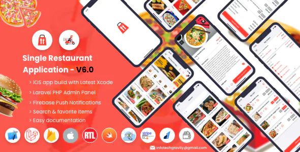 Single Restaurant iOS User Delivery Boy Apps With Laravel Admin Panel