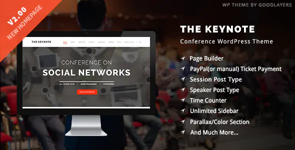 The Keynote Conference Event WordPress