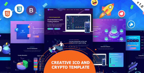 Tokyland ICO and Crypto Bootstrap Template